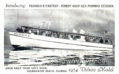 Fishing Cruiser - Clearwater, Florida FL Postcard