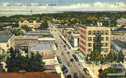 Fort Harrison Ave - Clearwater, Florida FL Postcard