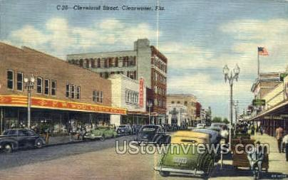 Cleveland St - Clearwater, Florida FL Postcard