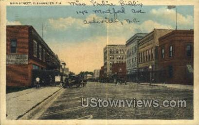 Main St - Clearwater, Florida FL Postcard