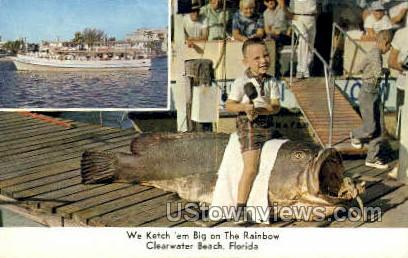 Rainbow Party Boat - Clearwater, Florida FL Postcard