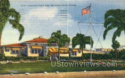 Yacht Club - Clearwater, Florida FL Postcard