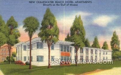 Hotel Apts - Clearwater, Florida FL Postcard