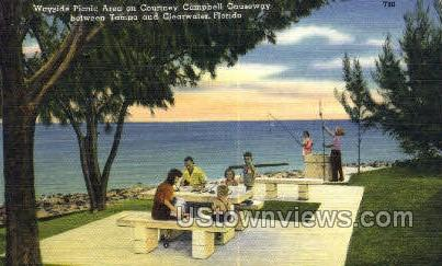 Courtney Campbell Causeway - Clearwater, Florida FL Postcard