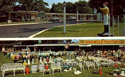 Knowles Motel & Pottery - Clearwater, Florida FL Postcard