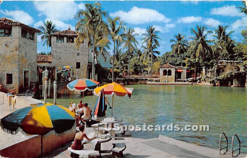 Unique Venetian Pools - Coral Gables, Florida FL Postcard