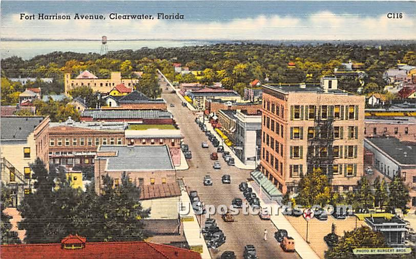 Fort Harrison Avenue - Clearwater, Florida FL Postcard