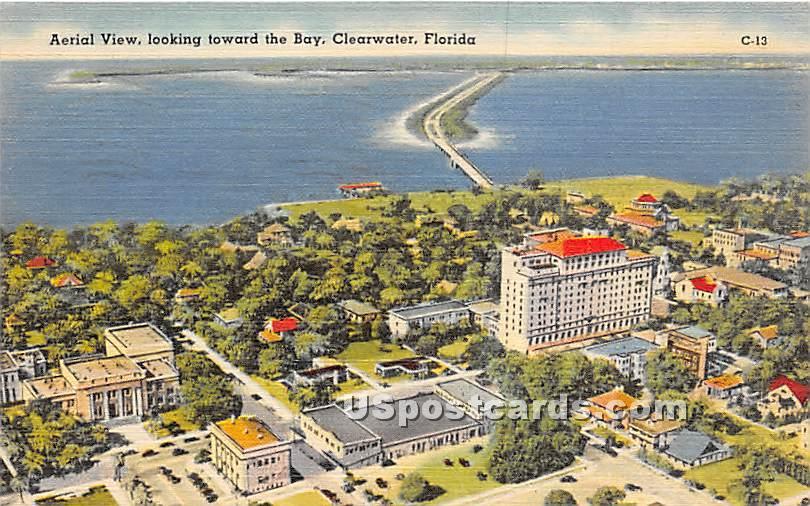 Bay Shore, Brickells Point - Clearwater, Florida FL Postcard