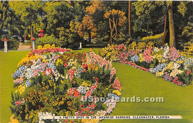 Japanese Garden - Clearwater, Florida FL Postcard