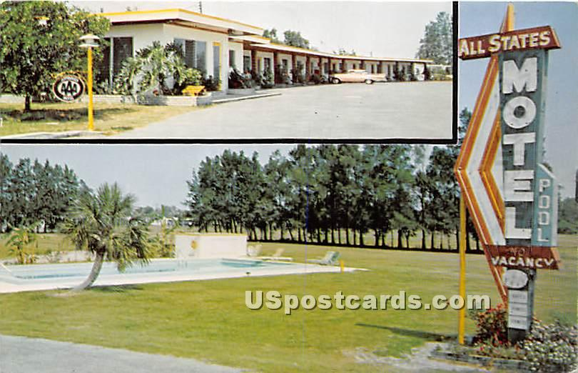 All States Motel - Clearwater, Florida FL Postcard