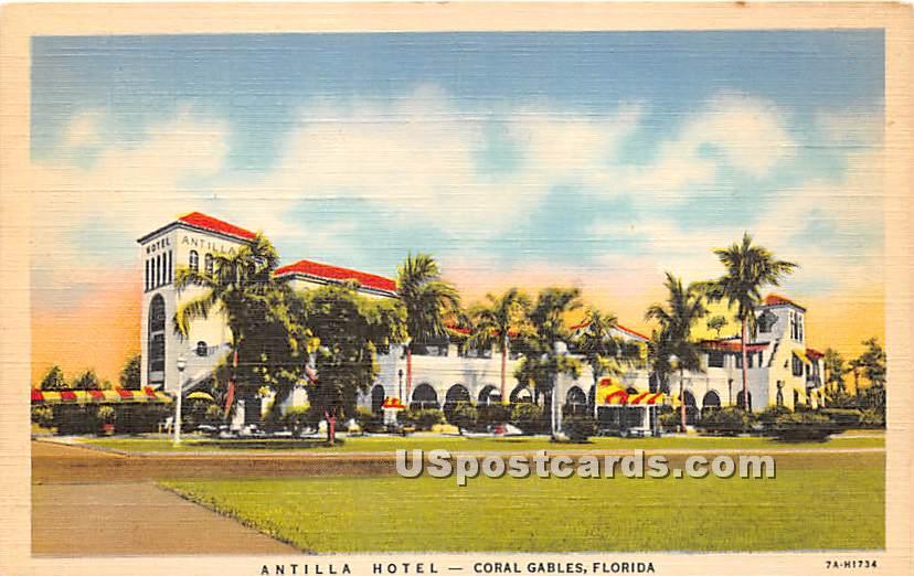 Antilla Hotel - Coral Gables, Florida FL Postcard