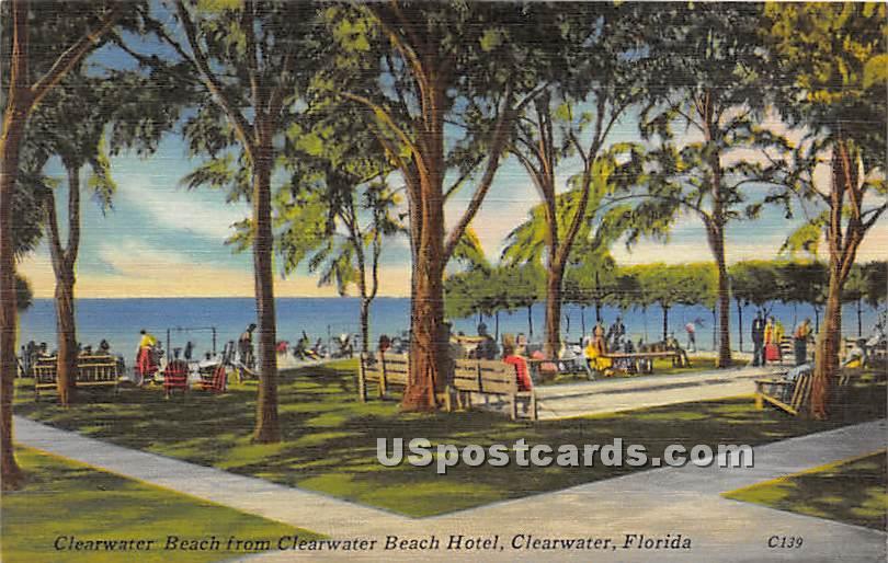Clearwater Beach, Hotel - Florida FL Postcard