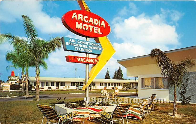 Arcadia Court Motel - Clearwater, Florida FL Postcard