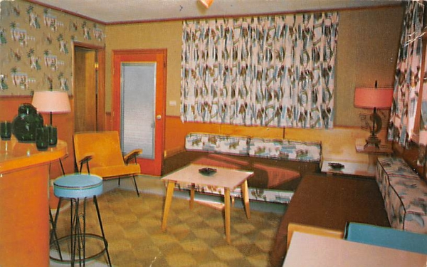 Atlantic Court Motel Coral Gables, Florida Postcard
