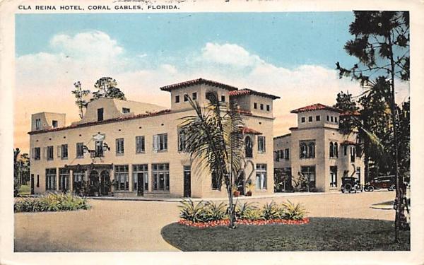 Cla Reina Hotel Coral Gables, Florida Postcard