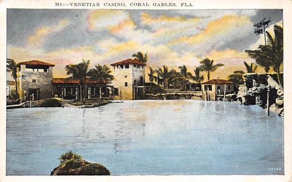 Venetian Casino Coral Gables, Florida Postcard