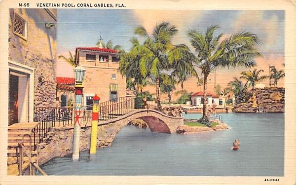 Venetian Pool Coral Gables, Florida Postcard