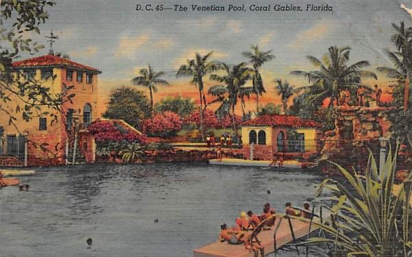 The Venetian Pool Coral Gables, Florida Postcard