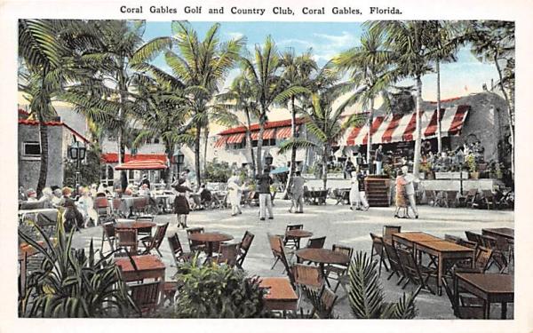Coral Gables Golf & Country Club Florida Postcard