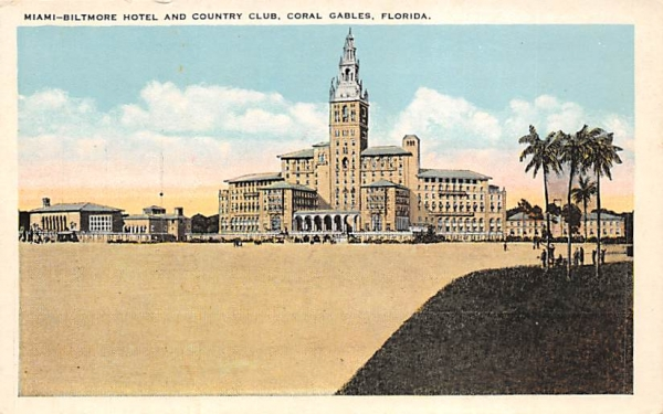 Miami-Biltmore Hotel and Country Club Coral Gables, Florida Postcard