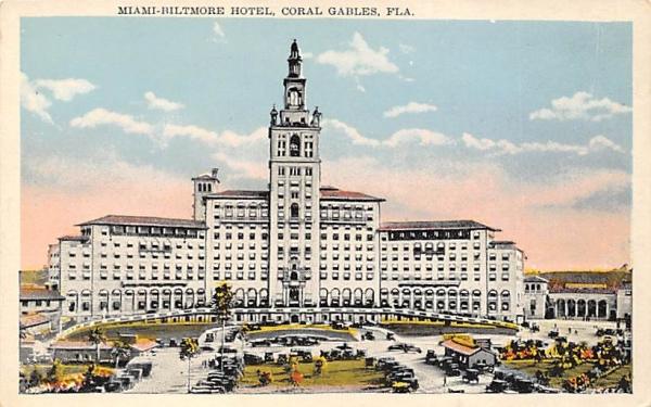 Miami-Biltmore Hotel Coral Gables, Florida Postcard