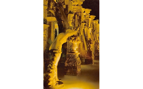 The Fountains at Night, The Kapok Tree Inn Clearwater, Florida Postcard