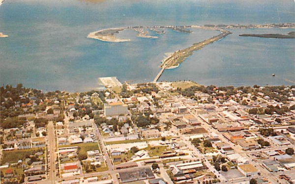 Air View of Clearwater FL, USA Florida Postcard