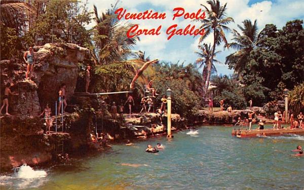 Venetian Pools Coral Gables, Florida Postcard