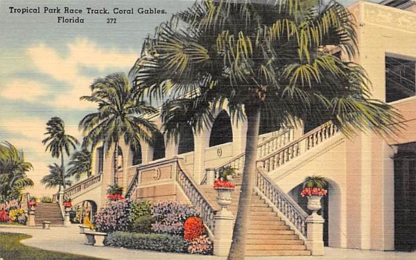 Tropical Park Race Track Coral Gables, Florida Postcard