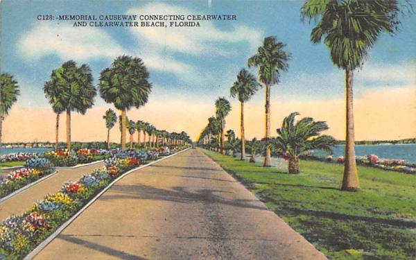 Memorial Causeway Clearwater, Florida Postcard