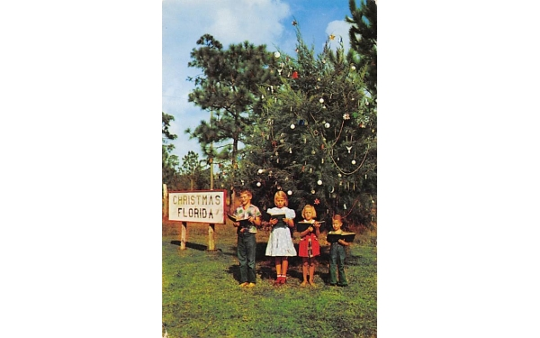 Here where it is Christmas every day Florida Postcard