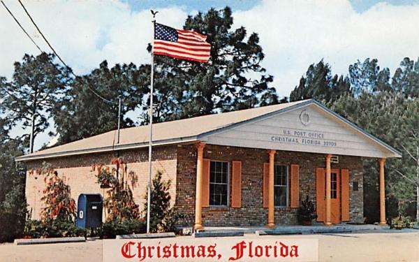 Christmas Florida Post Office Postcard