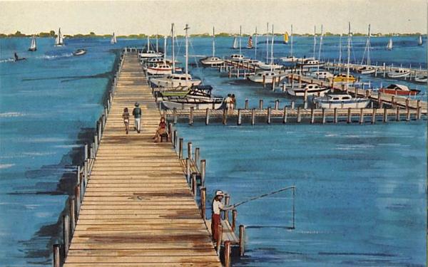 Roll's Landing - A Boat Dock Charlotte Harbor, Florida Postcard