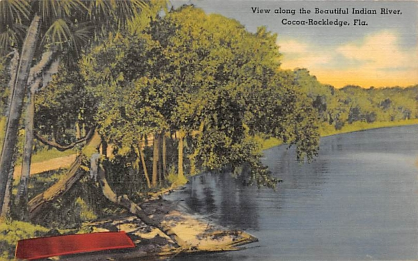 View long the Beautiful Indian River Cocoa Rockledge, Florida Postcard