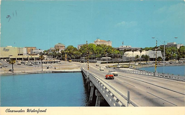 Clearwater Waterfront Florida Postcard