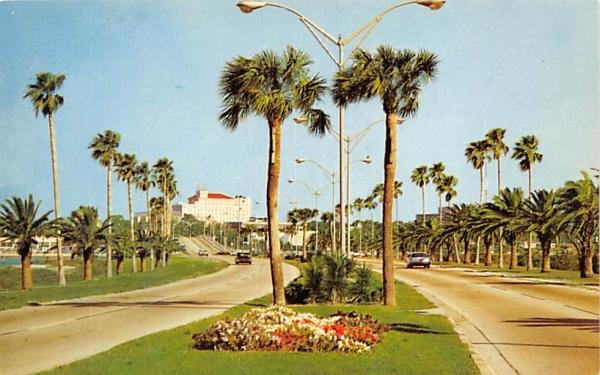 Famous Memorial Causeway Clearwater, Florida Postcard