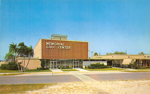 Memorial Civic Center Clearwater, Florida Postcard