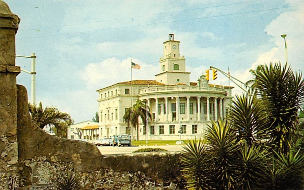 Coral Gables City Hall Florida Postcard