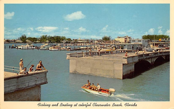 Fishing and Boating, Clearwater Beach, FL, USA Florida Postcard
