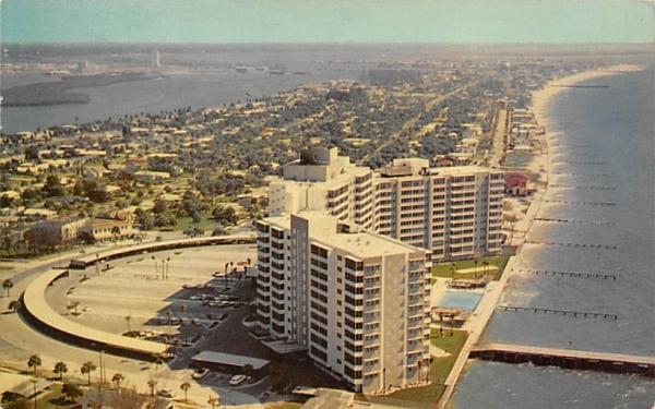 Air View of Clearwater Beach, FL, USA Florida Postcard