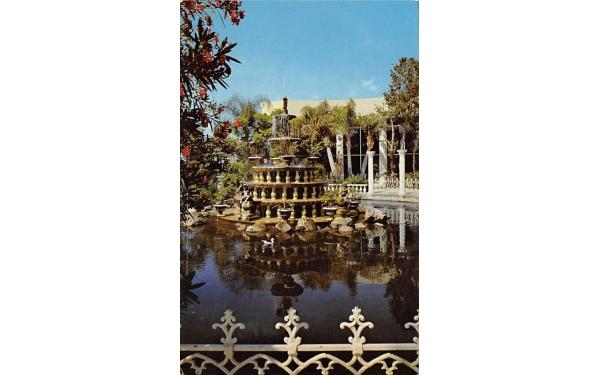 Beautiful Fountain at Kapok Tree Inn Clearwater, Florida Postcard