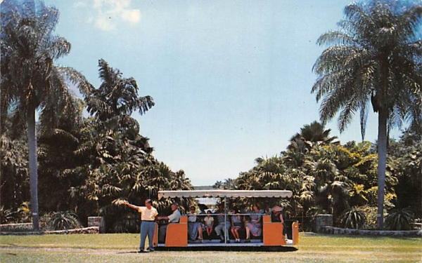 The Rambler takes visitors on guided tours Coral Gables, Florida Postcard