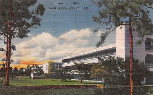 University of Miami Coral Gables, Florida Postcard