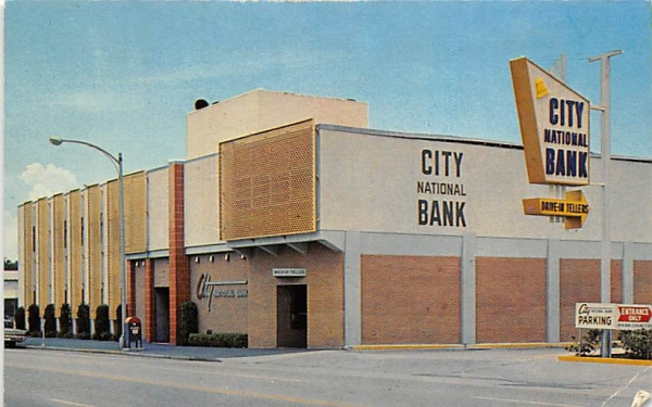 City National Bank Clearwater, Florida Postcard