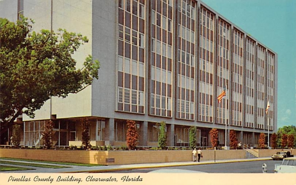Pinellas County Building Clearwater, Florida Postcard