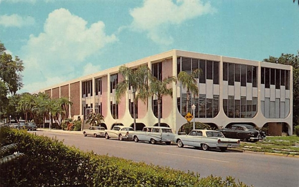 The Clearwater Public Library Florida Postcard