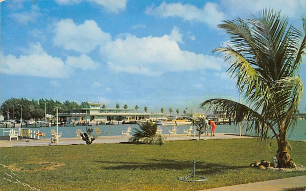 Playgrounds and parks around the beautiful Marina Clearwater Beach, Florida Postcard