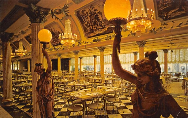 The Golden Main Dining Room at Kapol Tree Inn Clearwater, Florida Postcard