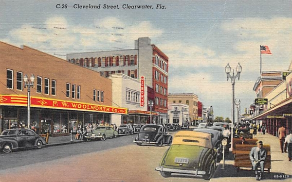 Cleveland Street Clearwater, Florida Postcard
