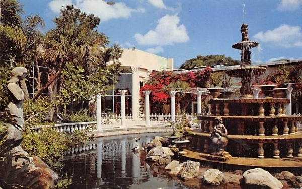 Fountain at Kapok Tree Inn Clearwater, Florida Postcard